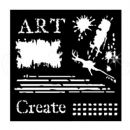 "Woodware 6"" x 6"" Stencil Art"